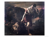 David Dragging Goliath's Head Giclee Print