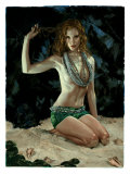 Pin-Up Girl: Exotic Redhead Grotto