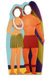 Surfboard Couple Lifesize Stand-In Cardboard Cutouts