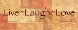 Live, Laugh, Love Art Print
