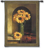 Sunflowers with Persian Rug Wall Tapestry