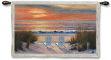 Paradise Sunset Wall Tapestry