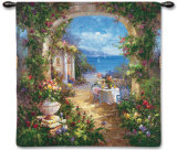 Mediterranean Arches II Wall Tapestry
