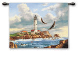 Boston Lighthouse Wall Tapestry