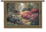 Along the Garden Path Wall Tapestry