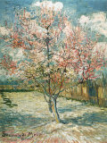 Peach Tree in Bloom at Arles, c.1888 Art Print
