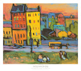 Houses in Munich, 1908 Art Print