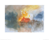 The Burning of the Houses of Parliament, c.1834 Art Print