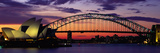 Sydney Harbour Bridge at Sunset, Sydney, Australia Photographic Print