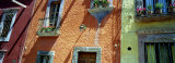 Low Angle View of Balconies in Houses, San Miguel De Allende, Guanajuato, Mexico