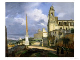 Trinita Dei Monti and the Villa Medici, Rome, 1808