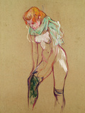 Woman Pulling up Her Stocking, 1894 Giclee Print