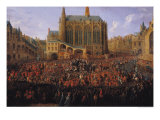 The Departure of Louis XV from Sainte-Chapelle after the
