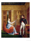 Marie Louise of Habsbourg Lorraine Painting a Portrait of Napoleon I