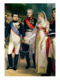 Napoleon Bonaparte Receiving Queen Louisa of Prussia at Tilsit, 6th July 1807, 1837