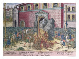 Hanging of Anne Du Bourg Place de Greve, 23rd December 1559