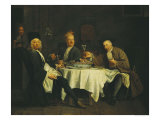 The Poet Alexis Piron at the Table with His Friends, Jean Joseph Vade and Charles Colle