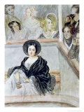 Marie Duplessis at the Theatre Giclee Print