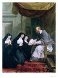 St. Francois de Sales Giving the Rule of the Visitation to St. Jeanne de Chantal