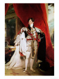 The Prince Regent, Later George IV in His Garter Robes, 1816 Giclee Print