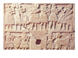 Votive Plaque Depicting an Offering Scene, from Diyala, Early Dynastic Period, 2600-2500 BC