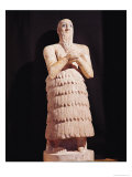 Statue of Itur-Shamagen, King of Mari, at Prayer, from Mari, Middle Euphrates, 2800-2300 BC