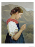 Tyrolean Girl Contemplating a Crucifix, 1865