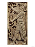 Relief Depicting a Warrior, from the Palace of Salmanassar III Nimrud