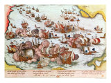 Naval Combat Between the Beggars of the Sea and the Spanish in 1573