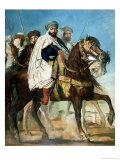 Ali Ben Ahmed, the Last Caliph of Constantine, with His Entourage Outside Constantine, 1845