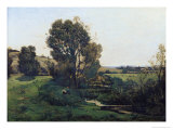 View from Moncel-Sur-Seine, circa 1868