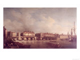 London Bridge Before the Alteration in 1757