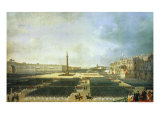 The Consecrating of the Alexander Column in St. Petersburg on August 30th 1834