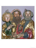 Carvings of Ss. Paul, Matthew and Thomas, from the Predella of the Isenheim Altarpiece, circa 1490