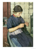 Girl Knitting