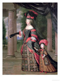 Maria Theresa Wife of Louis XIV, with Her Son the Dauphin Louis of France after 1661
