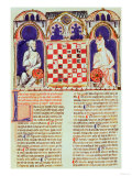 Two Men Playing a Game of Chess, Page from the 'Book of Games