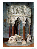 Hexagonal Pulpit with Dramatic Reliefs, circa 1297