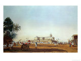 Lall Bazaar and the Portuguese Chapel, Calcutta, Pub. 1824