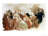 Study for an Evening at Baron Von Spaun's: Schubert at the Piano Among His Friends
