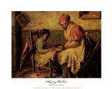 Playing Checkers Art Print