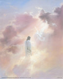 Christ in Clouds Art Print