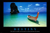 Destiny Boat on Beach Motivational Poster