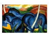 The Large Blue Horses, 1911
