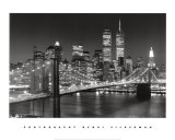 New York, New York, Brooklyn Bridge Art Print