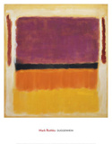 Untitled (Violet, Black, Orange, Yellow on White and Red), 1949 Art Print