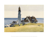 Lighthouse and Buildings, Portland Head, Cape Elizabeth, Maine, c.1927 Art Print