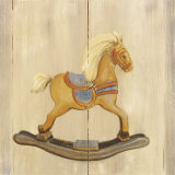 Rocking Horse with Blue Saddle