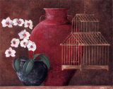 Orchids and Bird-Cage I