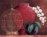 Orchids and Bird-Cage II